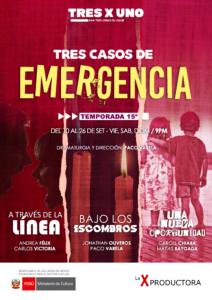 Tres casos de emergencia - Afiche